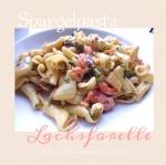 Pasta mit zweierlei Spargel und Lachsforelle