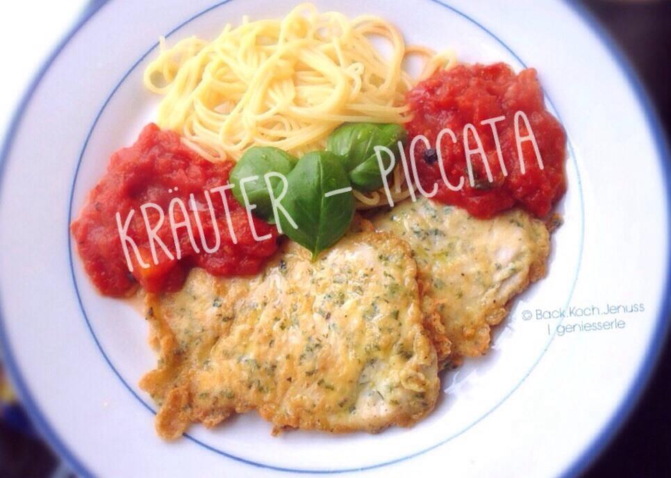Piccata mit Kräutern & Tomatensugo
