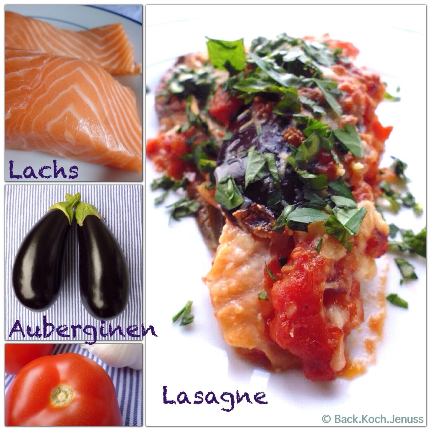 Auberginen-Lachs Lasagne