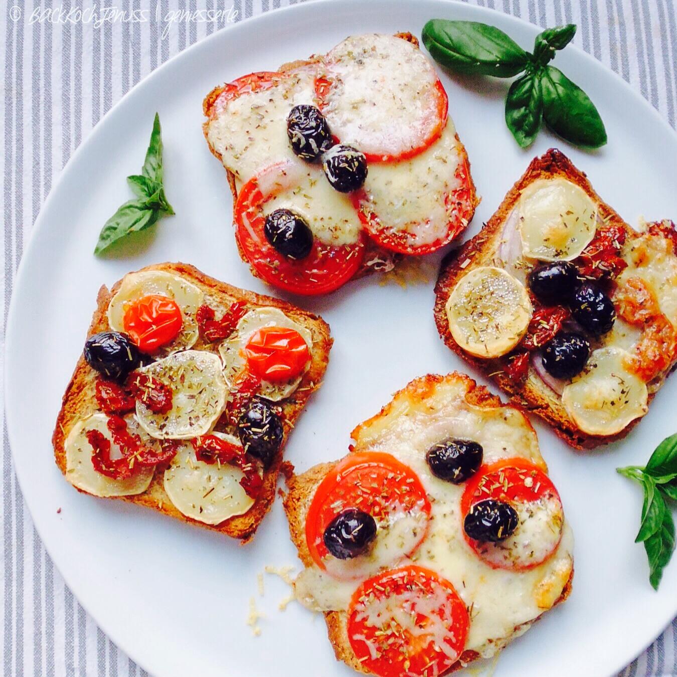 Caprese & Ziegenkäse Toasts ¦ einfach, schnell & lecker!