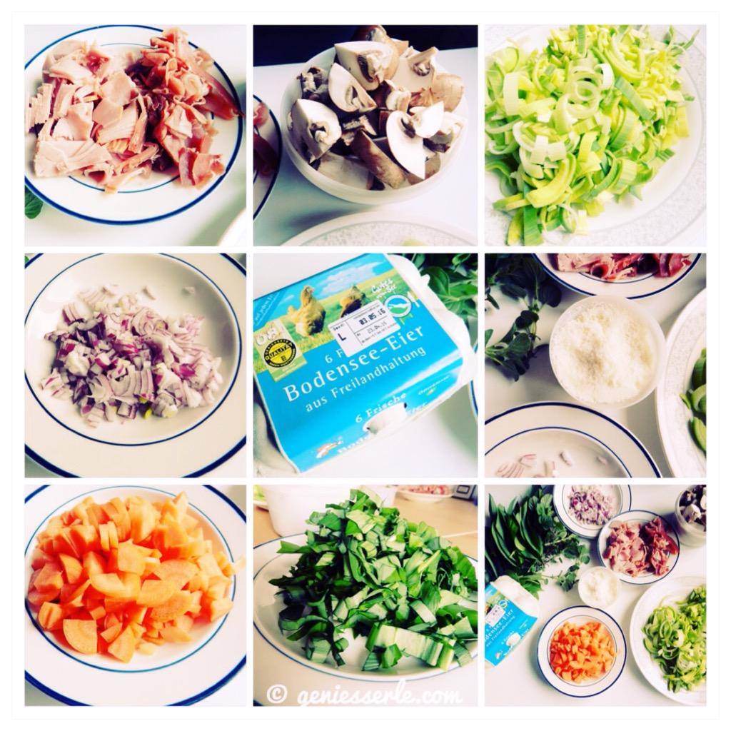 Frittata mit Gemüse.Schinken.Bärlauch. – geniesserle