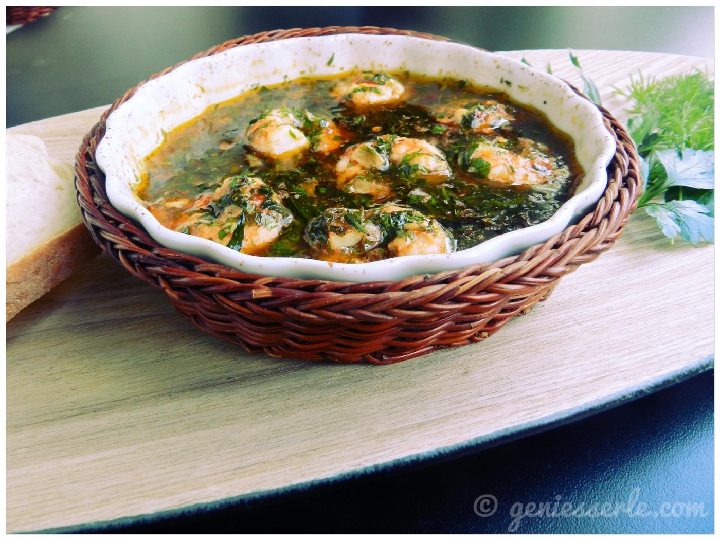 """Crevettes aux herbes et ail ... unsere französische Antwort auf """"gambas al ajillo"""""""