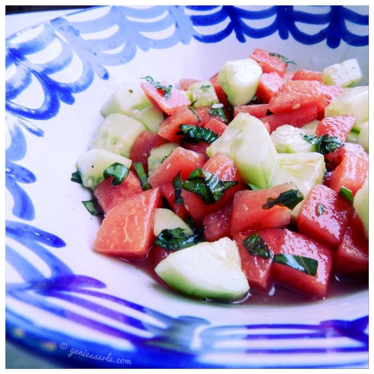 Wassermelonen-Gurken-Salat