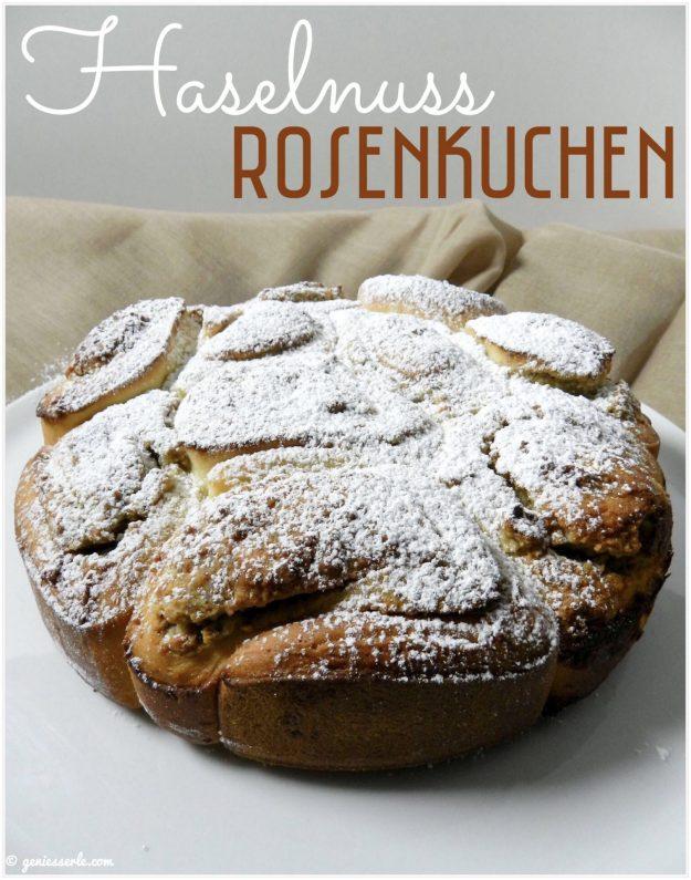 Haselnuss-Rosenkuchen