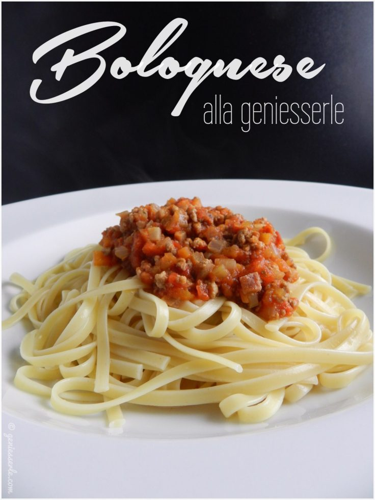 Sauce Bolognese alla geniesserle